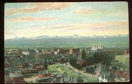 Postcard of Bird's Eye View of Salt Lake City, Utah