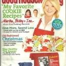 Good Housekeeping Magazine December 2010 Martha Stewart on the Cover Cookies
