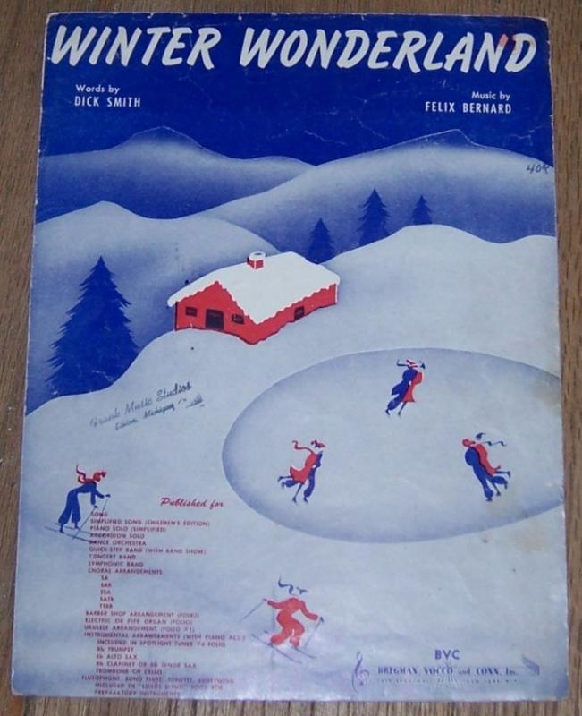 Winter Wonderland 1934 Classic Christmas Sheet Music