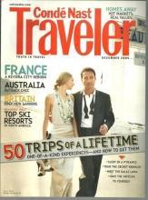 Conde Nast Traveler Magazine December 2005 50 Trips of a Lifetime on the Cover