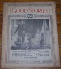 Good Stories Magazine December 1929 Vintage Fiction, Recipes, Household, Holiday