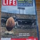 Life Magazine December 5, 1960 Kickoff by the Colts Before Capacity House