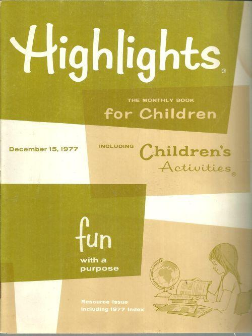 Highlights For Children Magazine December 15, 1977 Magic Words of Ballet