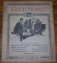 Good Stories Magazine December 1924 Vintage Fiction, Recipes, Household, Holiday