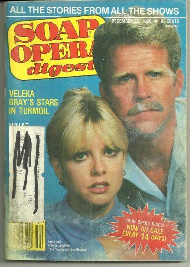 Soap Opera Digest Magazine December 23, 1980 Roberta Leighton and Tom Ligon YR