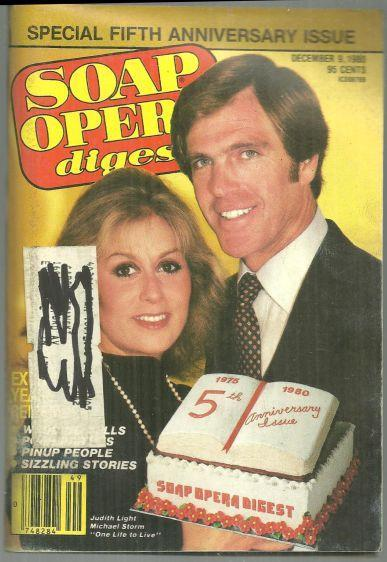 Soap Opera Digest Magazine December 9, 1980 Judith Light and Michael Storm OLTL