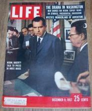 Life Magazine December 9, 1957  Nixon, Hagerty Talk to Press in White House