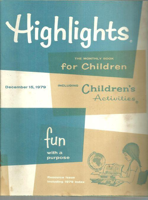 Highlights For Children Magazine December 15, 1979 The World of Tomorrow