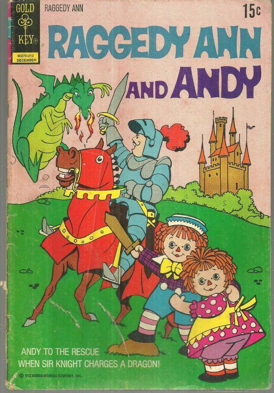 Raggedy Ann and Raggedy Andy December 1972 #3 Gold Key Comic Sir Knight Dragon