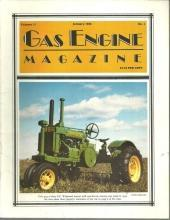 Gas Engine Magazine January 1986 G. P. Widetread Tractor on Cover