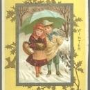 Victorian Trade Card for Colegrove Book Co. Seasons for 1883 Winter