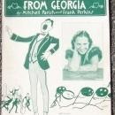 Sentimental Gentleman from Georgia Featured by Irene Taylor 1932 Sheet Music