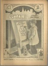 Grit Story Section January 2, 1938 Vintage Fiction, Poetry, Jokes and Comics