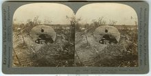 Stereoview Card of German Steel Cupola For Machine Guns