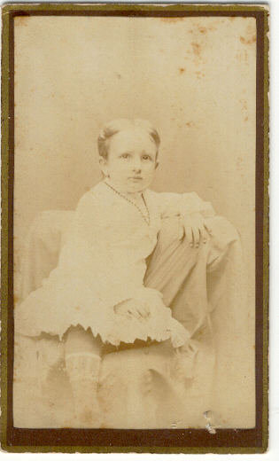 Cabinet Card of Douglas in Chair of Evansville, Indiana