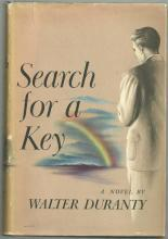 Search for a Key by Walter Duranty 1943 1st edition with Dust Jacket