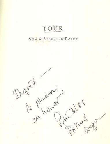 Tour New and Selected Poems Signed by Peter Sears 1987 1st edition