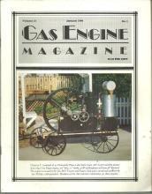 Gas Engine Magazine January 1990 1892 Van Duzen Engine on Cover