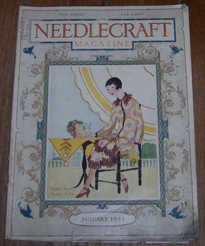 Needlecraft Magazine January 1927 Useful Novelties in Reed Work, Aprons