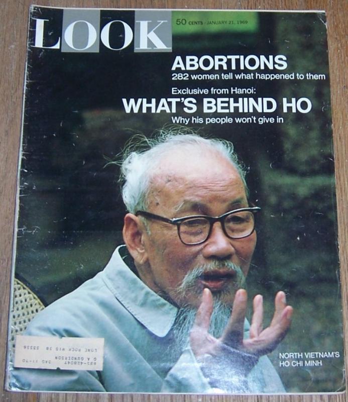 Look Magazine January 21, 1969 North Vietnam's Ho Chi Minh on cover
