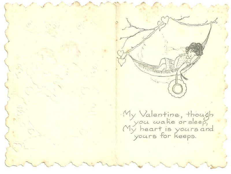 Whitney Made Vintage Valentine Card with Boy and Girl Holding a Duck