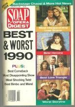Soap Opera Digest Magazine January 8, 1991 Best and Worst of 1990 on Cover