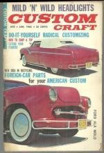 Custom Craft Magazine January 1963 Corvette, Classic Caddy and Headlights