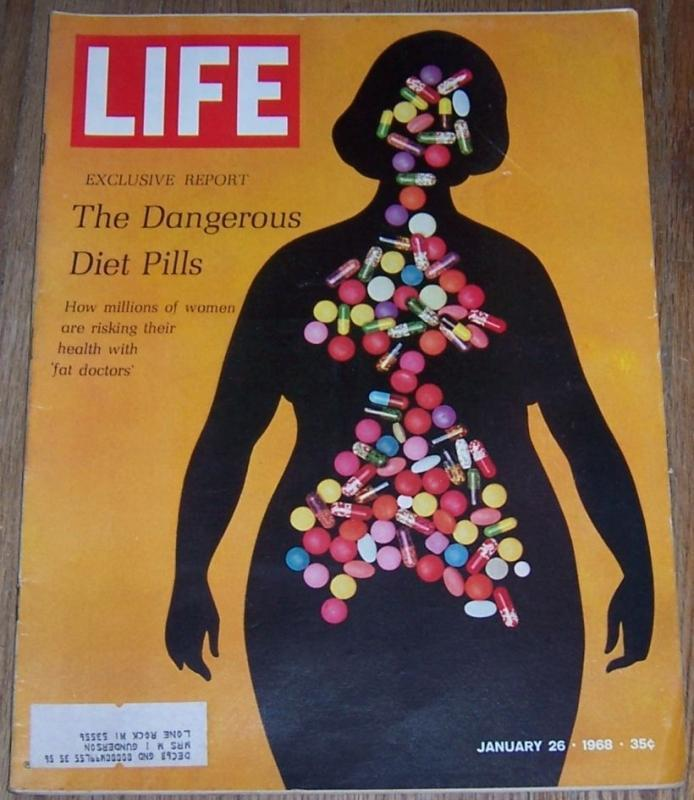 Life Magazine January 26, 1968 Dangerous Diet Pills on cover/Cream/Grande Dames