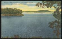 Postcard of View of Bull Shoals Lake From Lake View Boat Deck, Arkansas