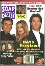 Soap Opera Digest Magazine January 18, 1994 Days Preview, Tony, Kristen and John