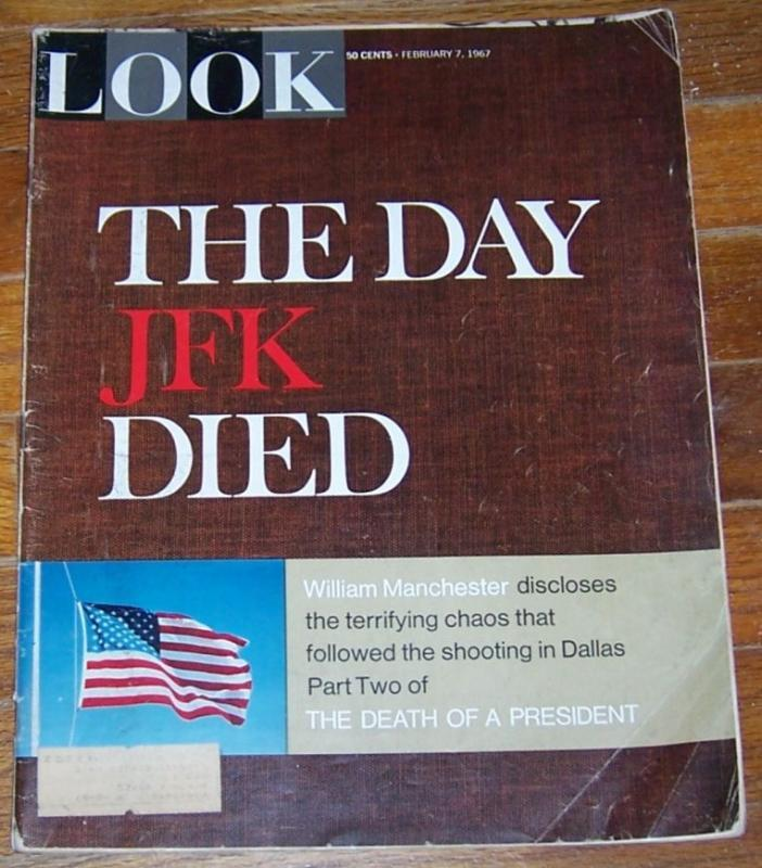 Look Magazine February 7, 1967 The Day JFK Died on cover/Jack Lemmon