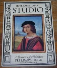 International Studio with Connoisseur Magazine February 1930 Waterford Glass