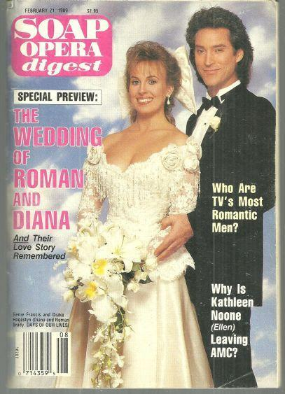 Soap Opera Digest Magazine February 21, 1989 Roman and Diana Wed DOOL Cover