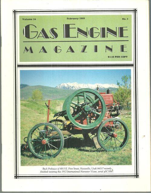 Gas Engine Magazine February 1989 1912 International Harvester Victor on Cover