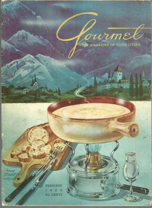 Gourmet Magazine February 1955 Cheese Hors d'Oeurve and Cheeses of the World