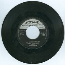 Bobby Darin Bill Bailey Won't You Come Home 45RPM Record
