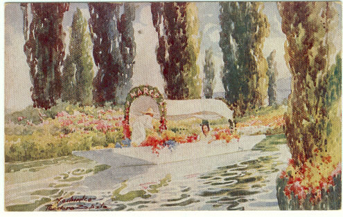 Postcard of Xochimilco Floating Garden