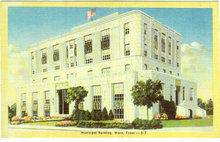 Postcard of Municipal Building, Waco, Texas