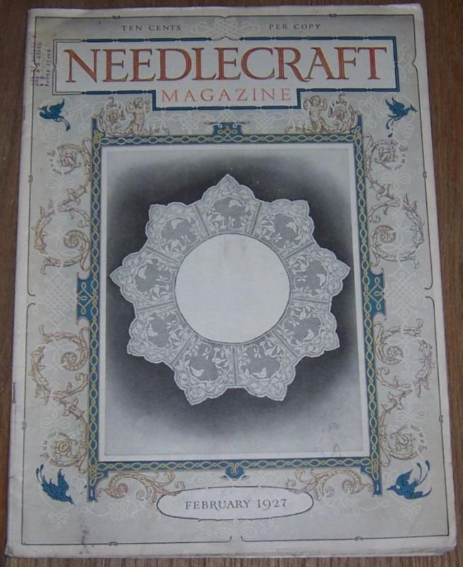 Needlecraft Magazine February 1927 White Embroideries/February Menus/Baby Bonnet
