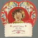 Victorian Fold Out Valentine with Tissue Honeycomb Little Boy Loving Greetings