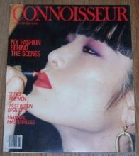 Connoisseur Magazine February 1986 Making of New York Fashion/Calvados/Flatware