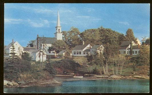 Postcard of The Old Mill Cove Boothbay Area Maine
