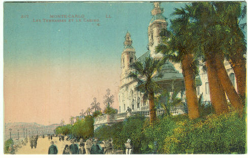 Monte Carlo Les Terrasses Et Le Casino Postcard