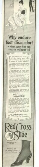 Red Cross Shoes 1915 Magazine Advertisement