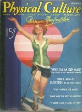 Physical Culture Magazine March 1933 Cover Painted by Jay Weaver/Body Beautiful