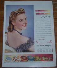 Vintage World War II 1941 Air-Spun Make-Up Life Magazine Color Advertisement