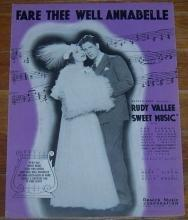 Fare Thee Well Annabelle Rudy Vallee in Sweet Music with Ann Dvorak 1934 Music