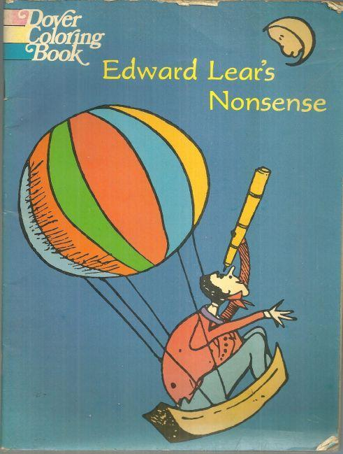 Edward Lear's Nonsense Book a Dover Coloring Book 1971 Unused