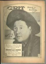 Grit Story Section March 13, 1938 Vintage Fiction, Cartoons, and Poetry