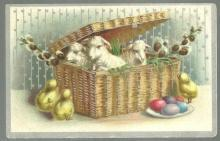Victorian Trade Card For The Geo. H. Knollenberg Co. Richmond, Indiana Easter